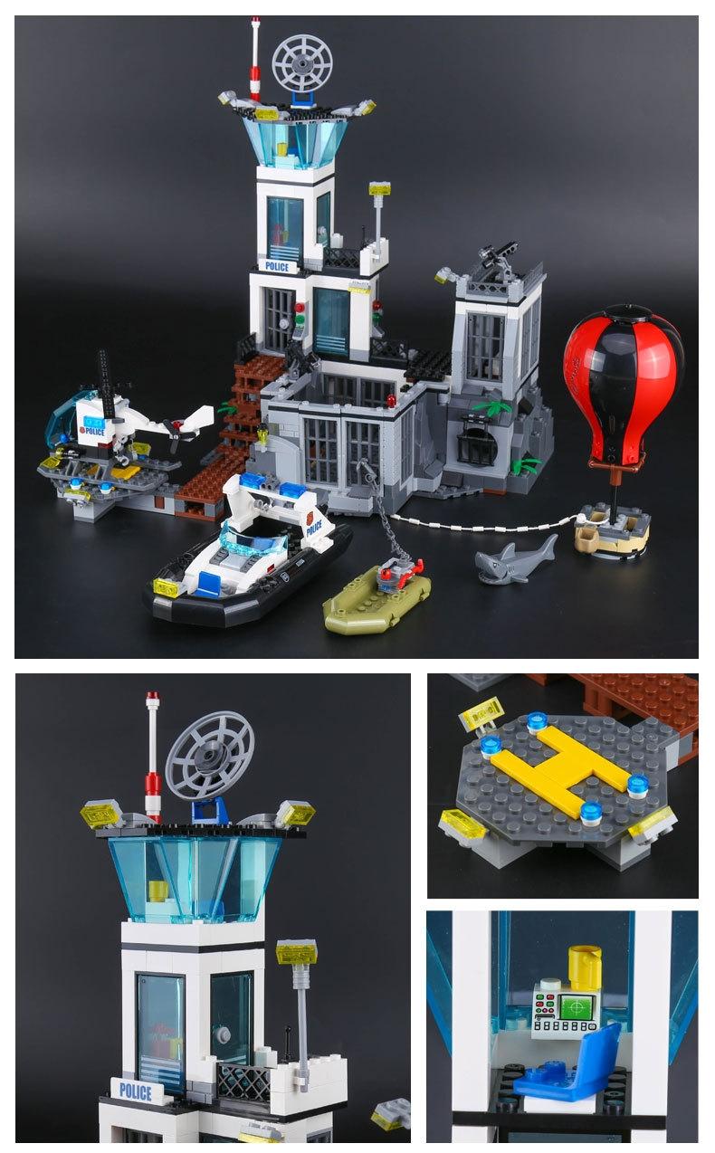 LEPIN 02006 Building Blocks Prison Island Brick Sets