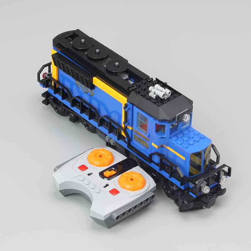 CUSTOM 02008 Cargo Train Building Bricks Set