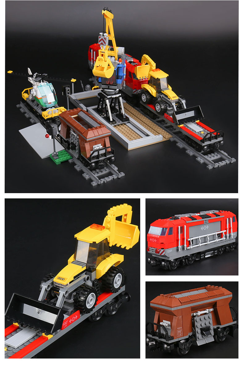 CUSTOM 02009 Heavy-Haul Train Building Bricks Set