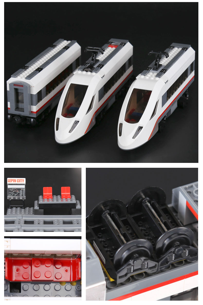 LEPIN 02010 High-Speed Passenger Train Building Bricks Set