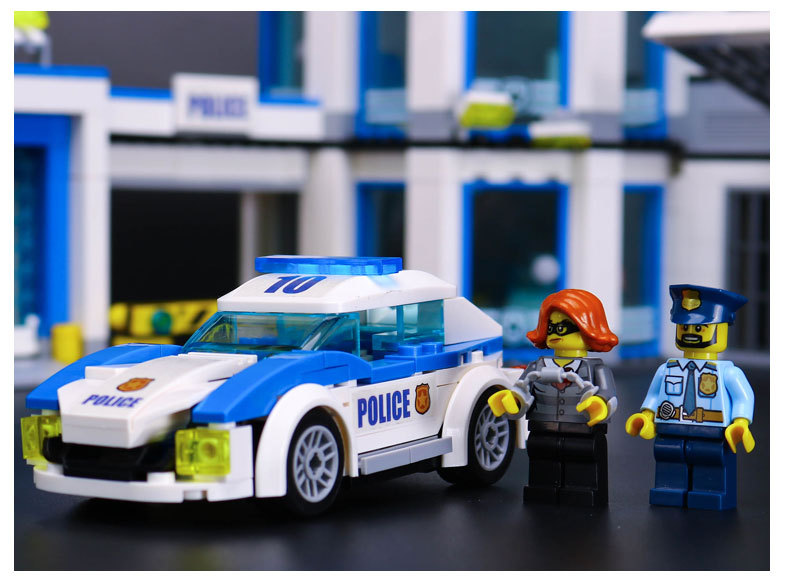 LEPIN 02020 City Police Station Building Toys Compatible Building Blocks