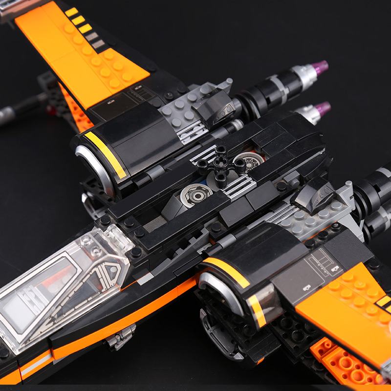 CUSTOM 05004 Poe's X-wing Fighter Building Bricks Set