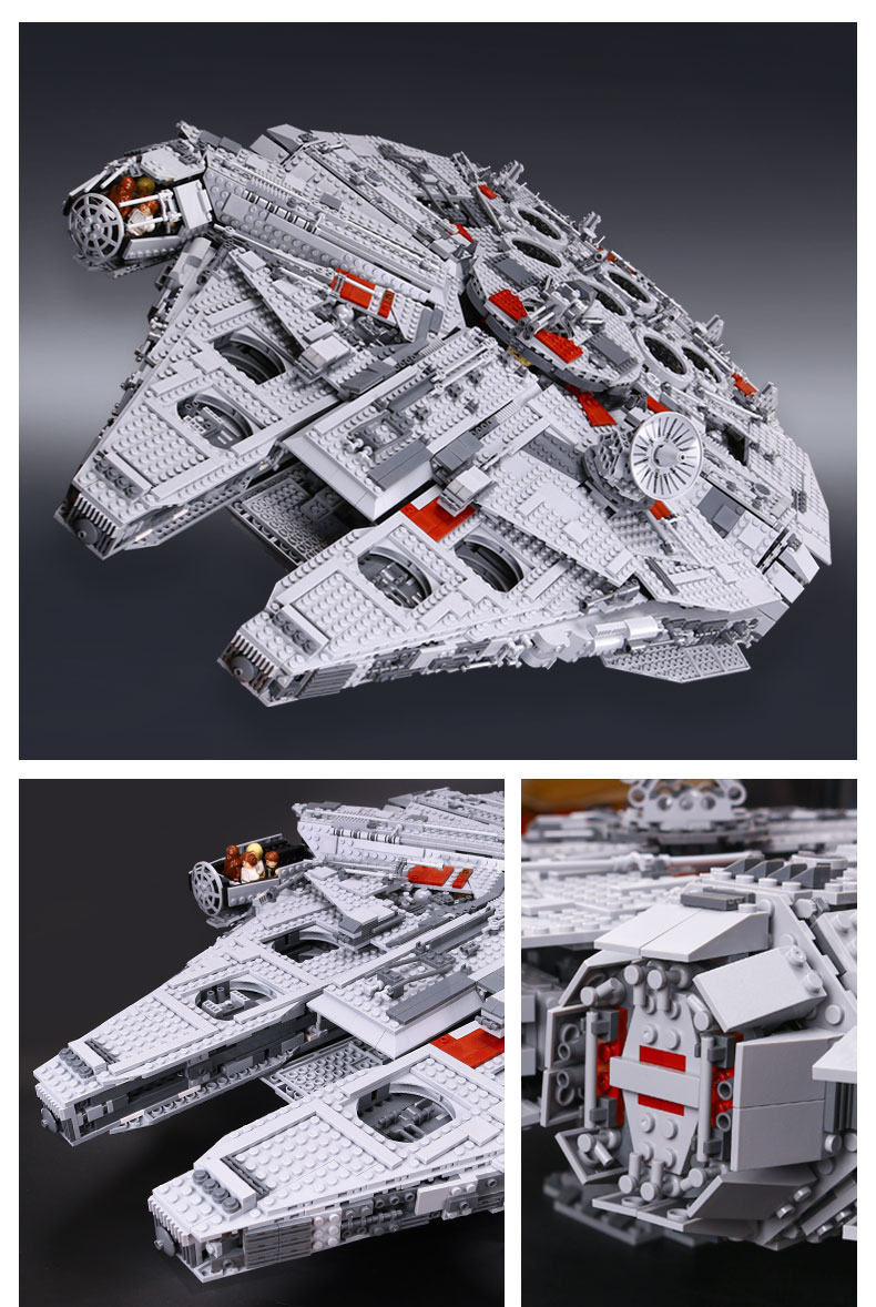 CUSTOM 05033 Building Blocks Star Wars Ultimate Collector's Millennium Falcon Building Brick Sets