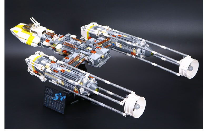 CUSTOM 05040 Building Blocks Star Wars Y-wing Attack Starfighter Building Brick Sets