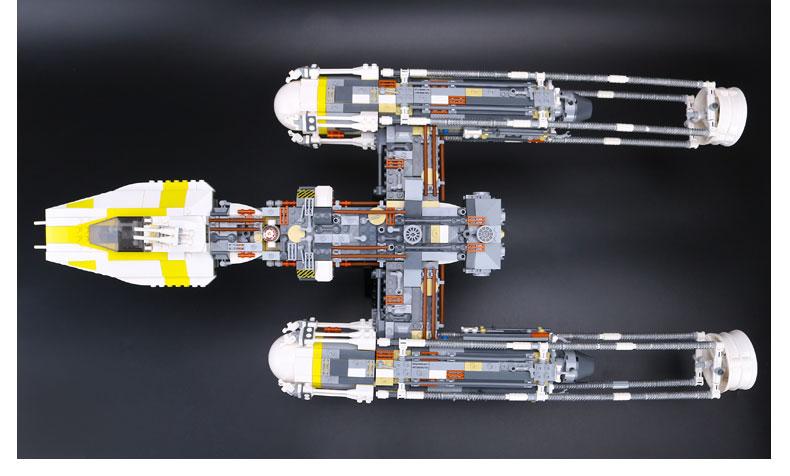 CUSTOM 05040 Building Blocks Star Wars Y-wing Attack Starfighter Building Brick Sets