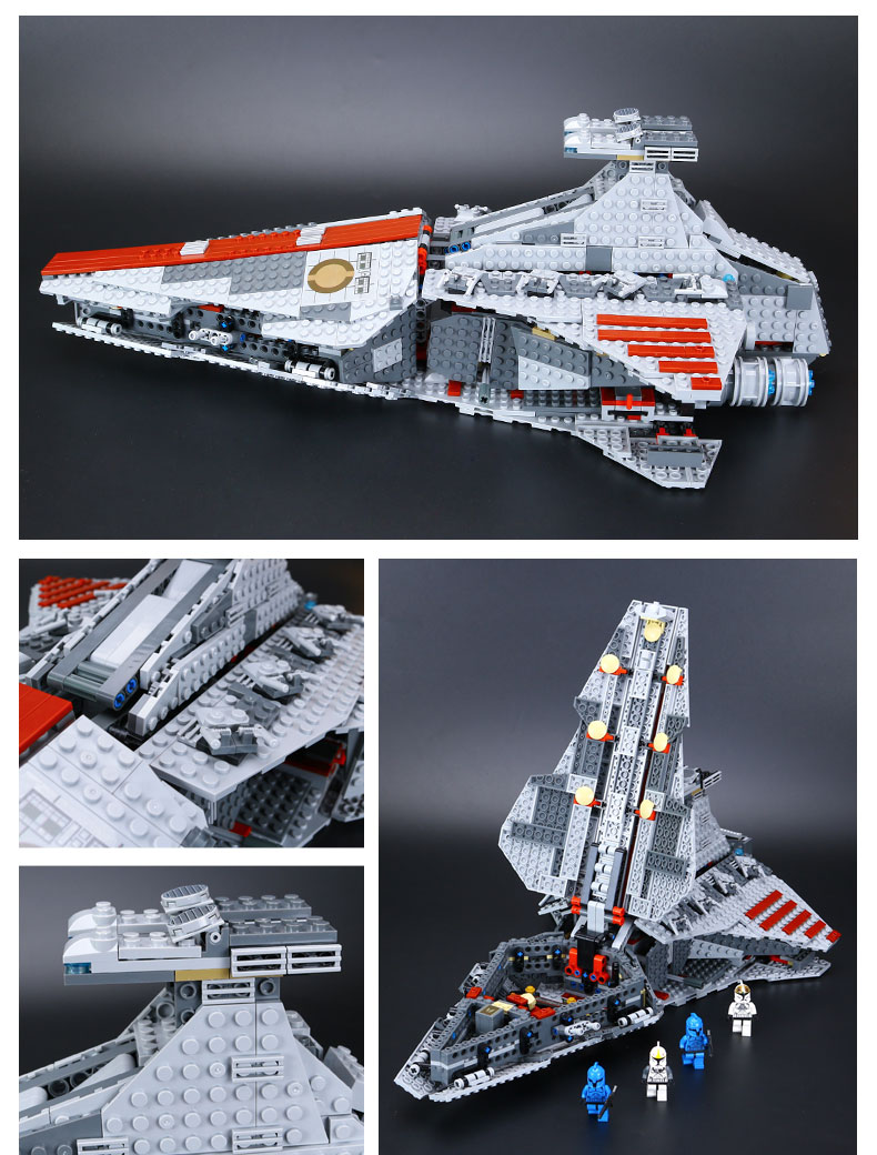 CUSTOM 05042 Building Blocks Venator-Class Republic Attack Cruiser Building Brick Sets