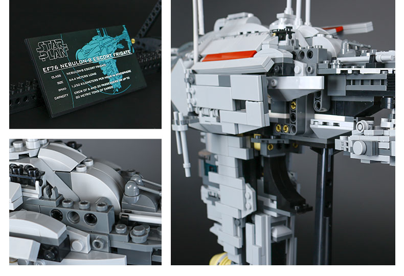 CUSTOM 05083 Nebulon-B Medical Frigate Compatible Building Bricks Set 1736 Pieces