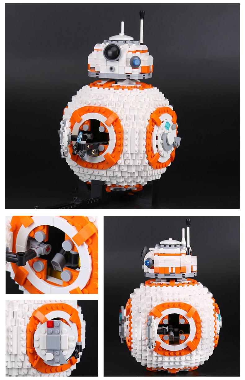 CUSTOM 05128 Building Blocks Toys Star Wars The Last Jedi BB-8 Building Brick Sets
