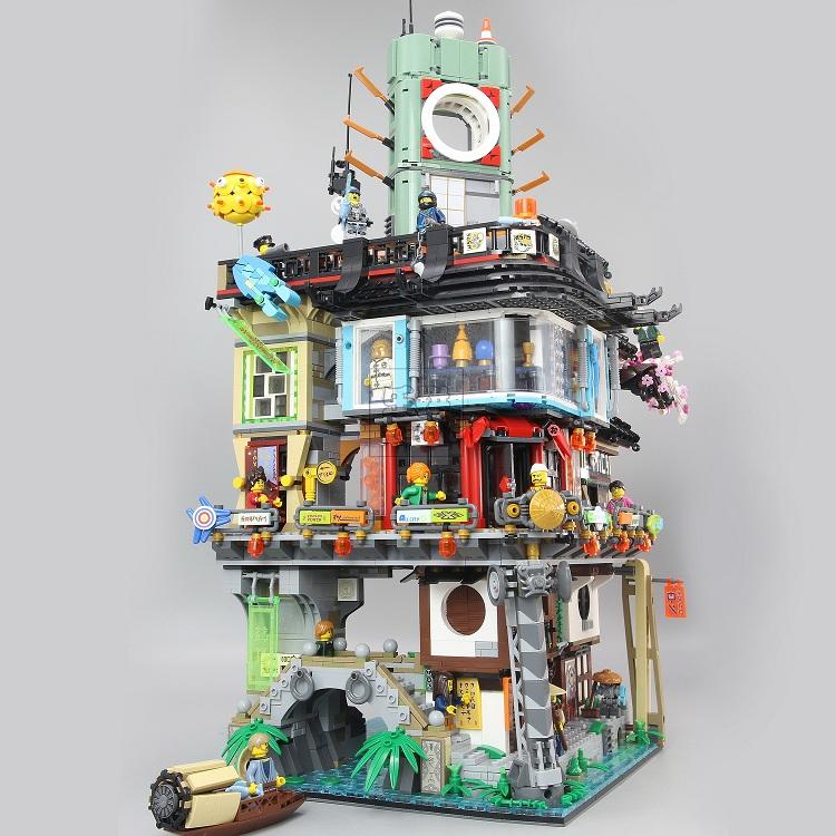 LEPIN 06066 Building Blocks Toys Ninjago City Building Brick Sets