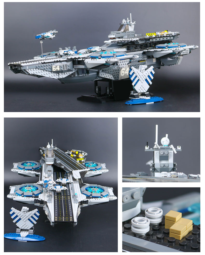 CUSTOM 07043 Building Blocks Toys Avengers The SHIELD Helicarrier Brick Sets