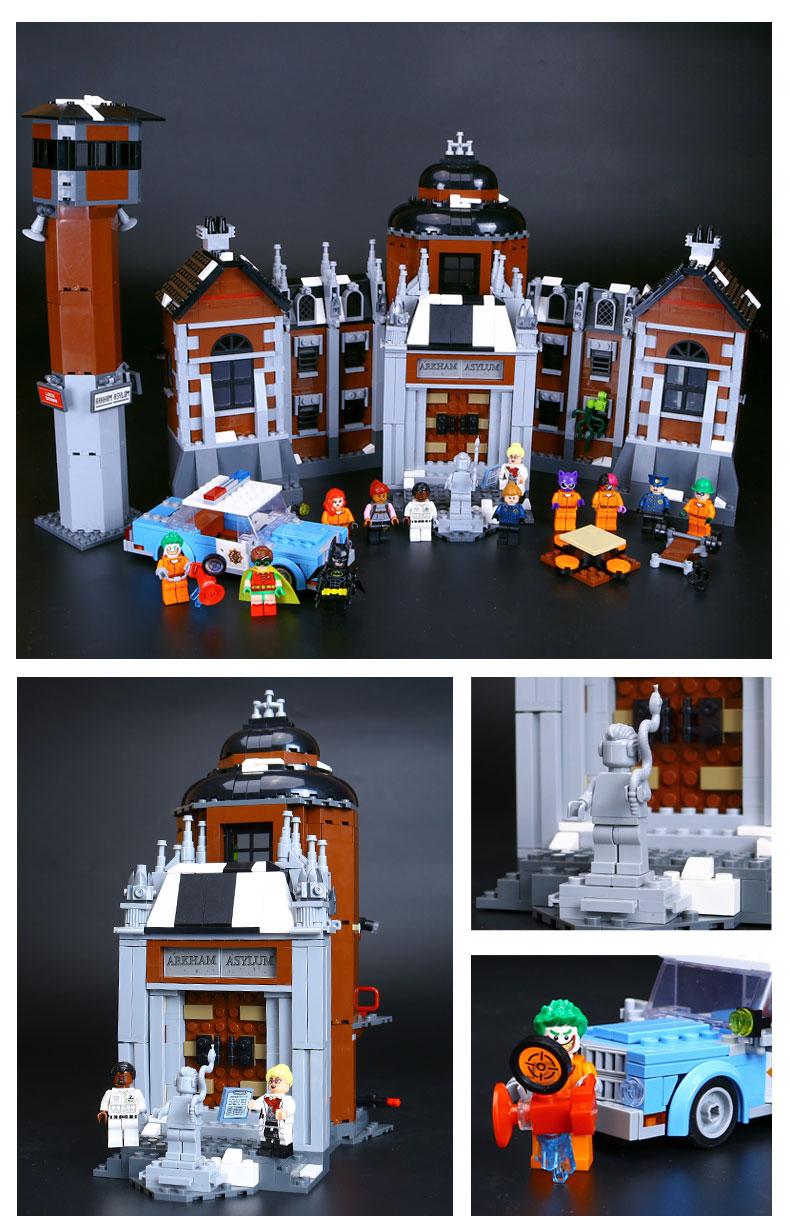 LEPIN 07055 Building Blocks Toys Batman Arkham Asylum Building Brick Sets