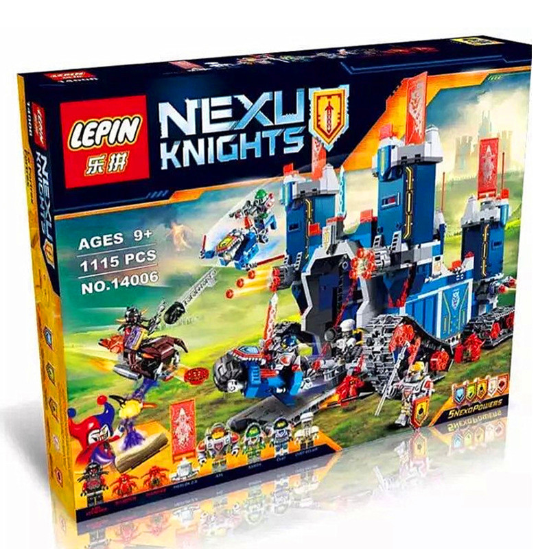 LEPIN 14006 Building Blocks Toys Nexo Knights The Fortrex Building Brick Sets
