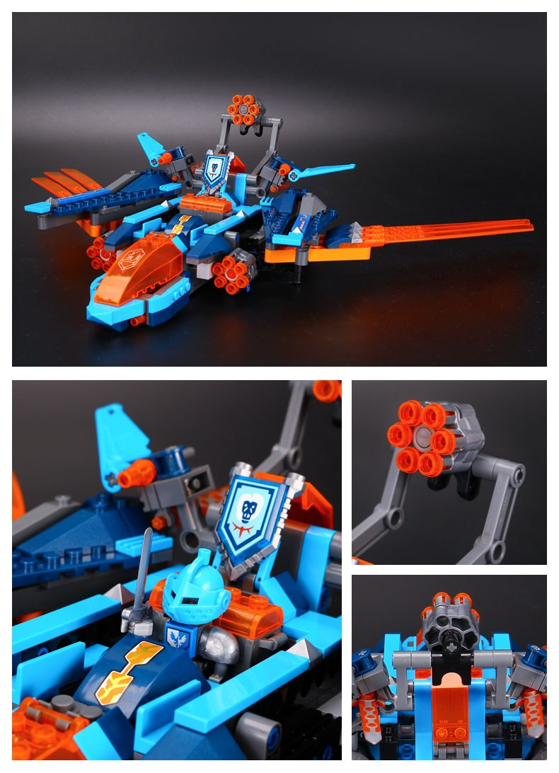 LEPIN 14030 Building Blocks Toys Nexo Knight Clay's Falcon Fighter Blaster Building Brick Sets