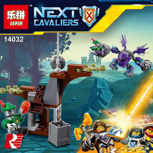 LEPIN 14032 Building Blocks Toys Nexo Knights Aaron's Stone Destroyer Building Brick Sets