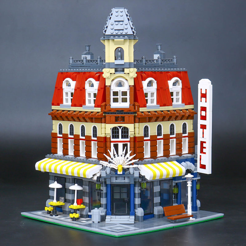 CUSTOM 15002 Building Blocks Cafe Corner Building Brick Sets
