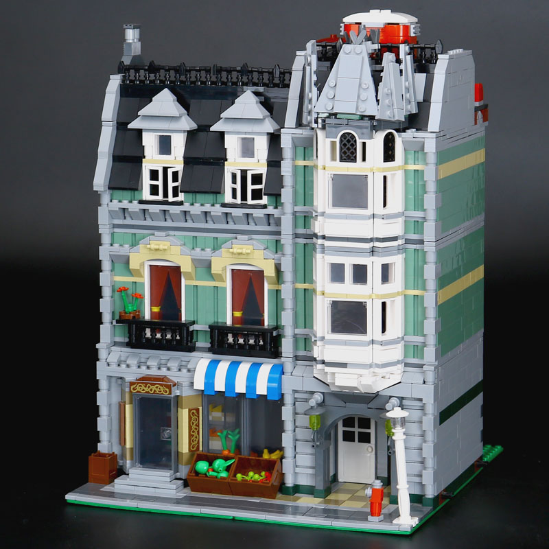 CUSTOM 15008 Creator Expert Green Grocer Building Bricks Set