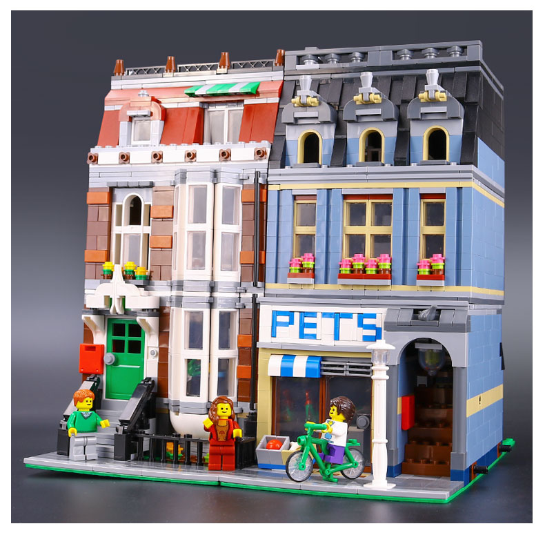 CUSTOM 15009 Creator Expert Pet Shop Building Bricks Set