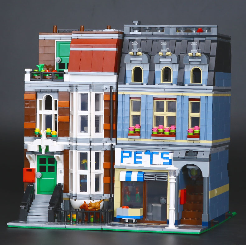 CUSTOM 15009 Creator Expert Pet Shop Building Bricks Set