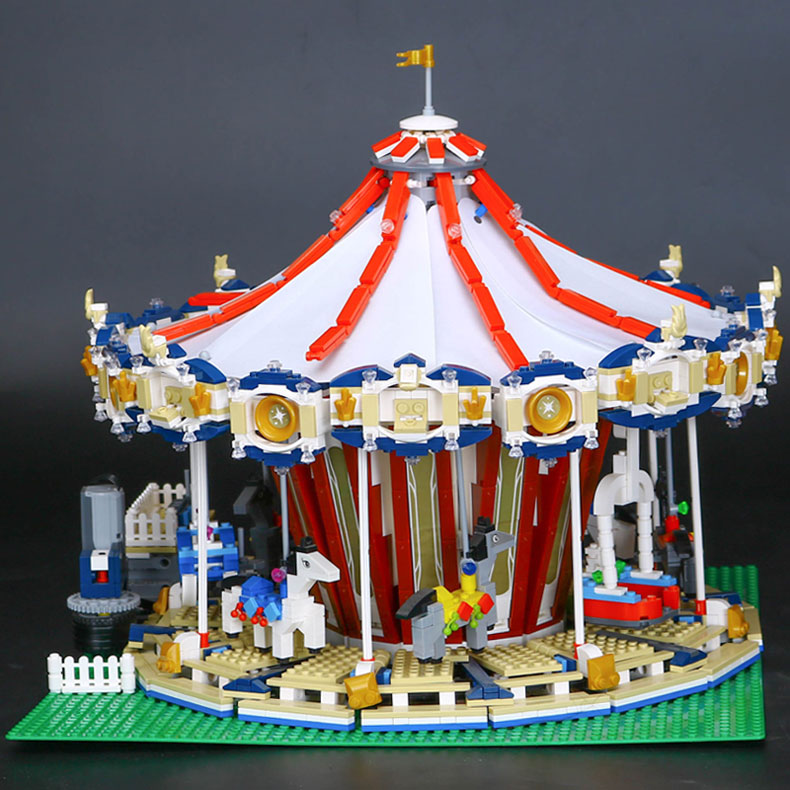 CUSTOM 15013 Building Blocks Fairground Grand Carousel Building Brick Sets