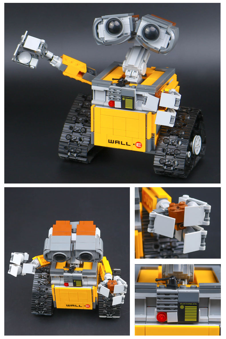 CUSTOM 16003 Building Blocks Toys Ideas WALL E Building Brick Sets