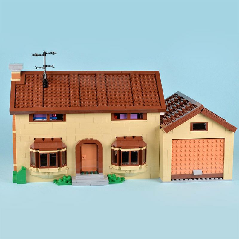 CUSTOM 16005 The Simpsons House Building Bricks Set