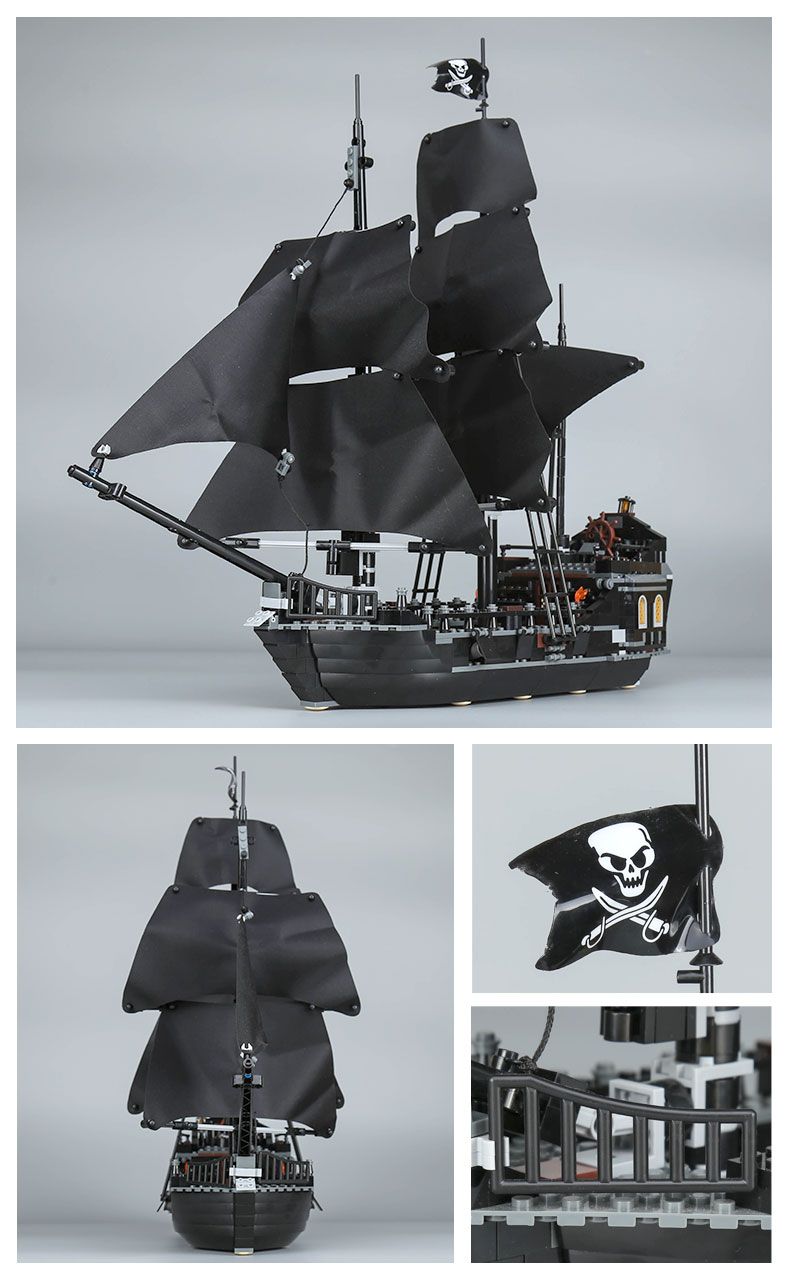 CUSTOM 16006 Building Blocks Pirates of the Caribbean The Black Pearl Building Brick Sets