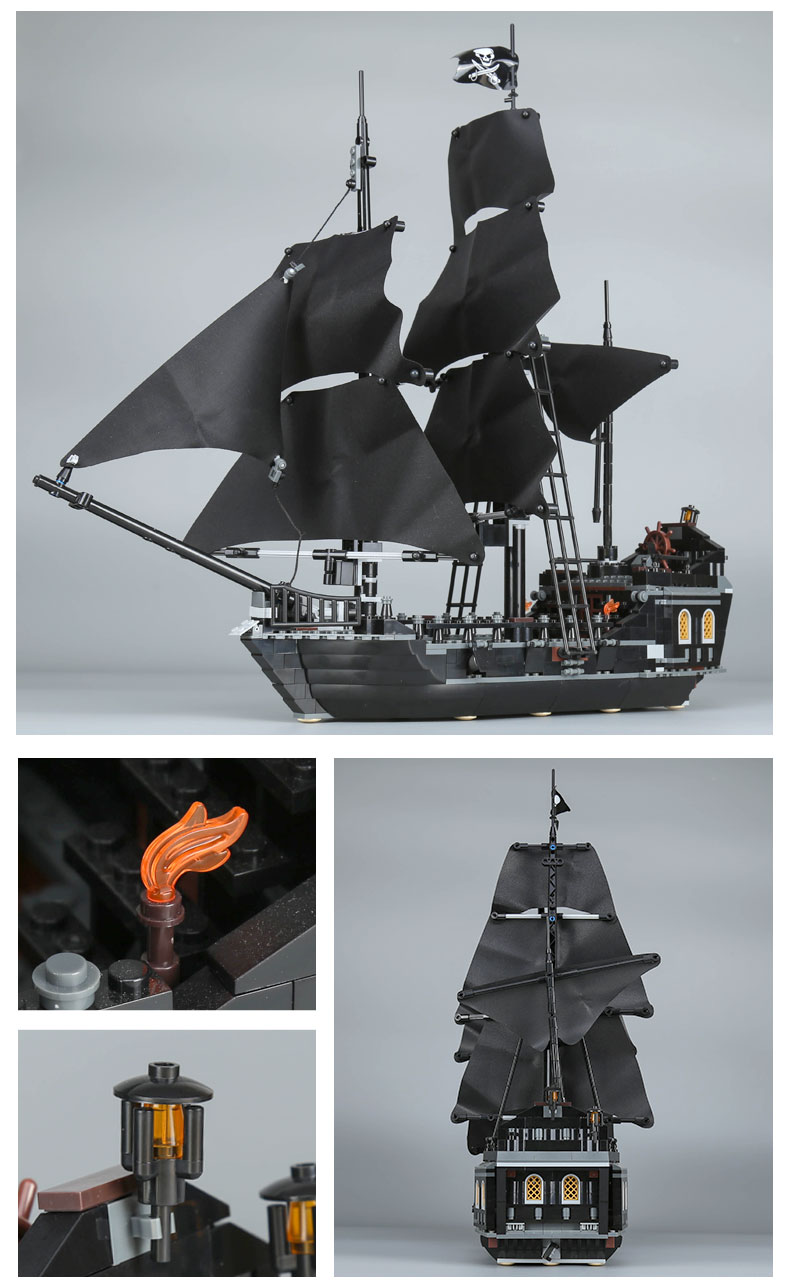 LEPIN 16006 Building Blocks Pirates of the Caribbean The Black Pearl Building Brick Sets