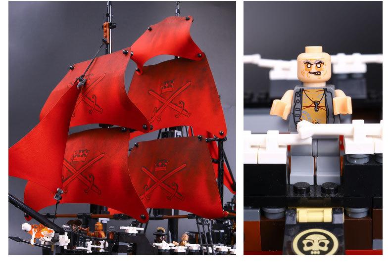 LEPIN 16009 Building Blocks Toys Queen Anne's Revenge Building Brick Sets