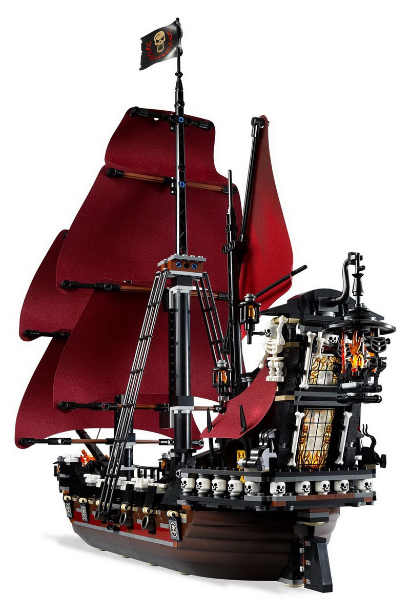 CUSTOM 16009 Building Blocks Toys Queen Anne's Revenge Building Brick Sets