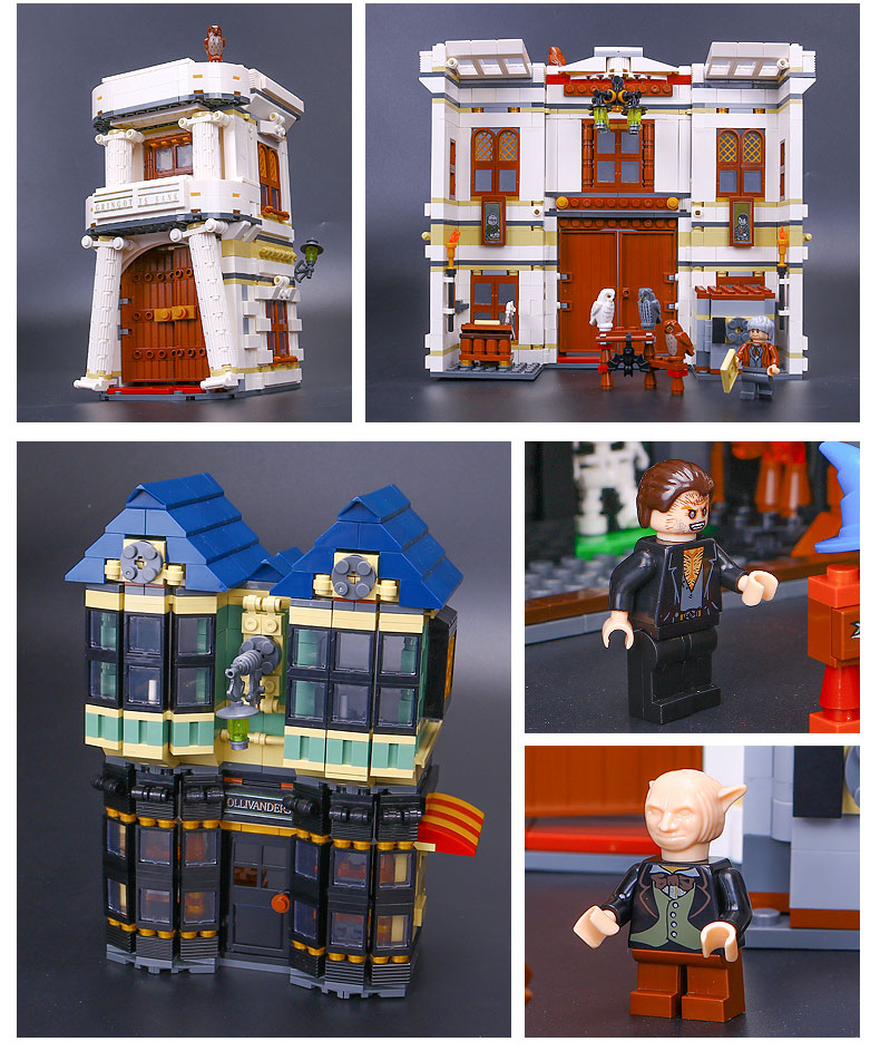 LEPIN 16012 Building Blocks Toys Harry Potter Diagon Alley Building Brick Sets