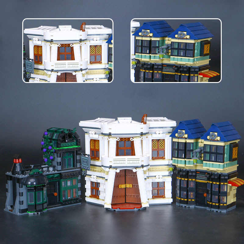 CUSTOM 16012 Building Blocks Toys Harry Potter Diagon Alley Building Brick Sets
