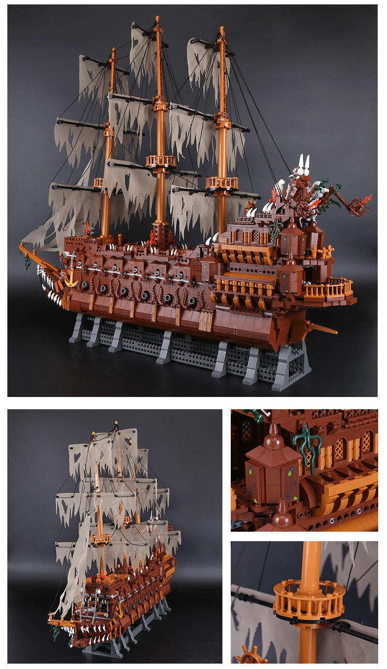 LEPIN 16016 Building Blocks Toys Pirates of the Caribbean Silent Mary Flying Dutchman Building Brick Sets
