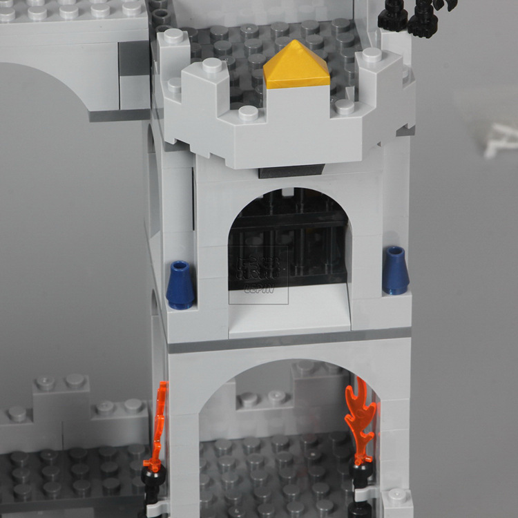 LEPIN 16017 Building Blocks Toys Fortress King'S Castle Siege Building Brick Sets
