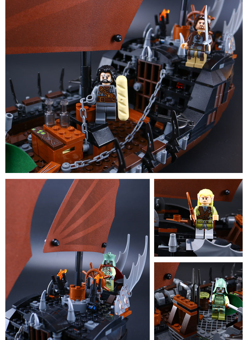 LEPIN 16018 Building Blocks Pirate Ship Ambush Building Brick Sets