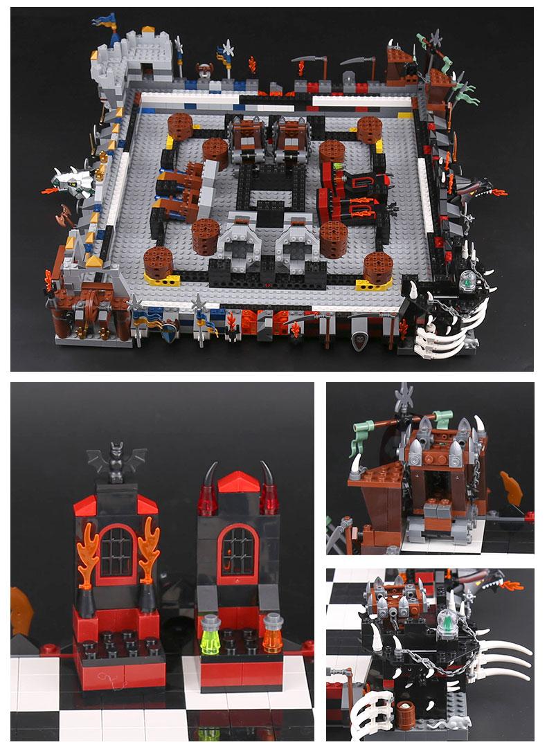 LEPIN 16019 Castle Giant Chess Set Building Bricks Set