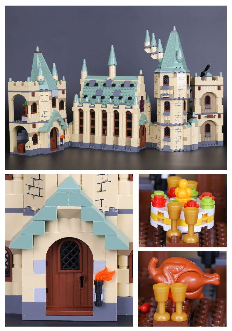 CUSTOM 16030 Hogwarts Castle Building Bricks Set