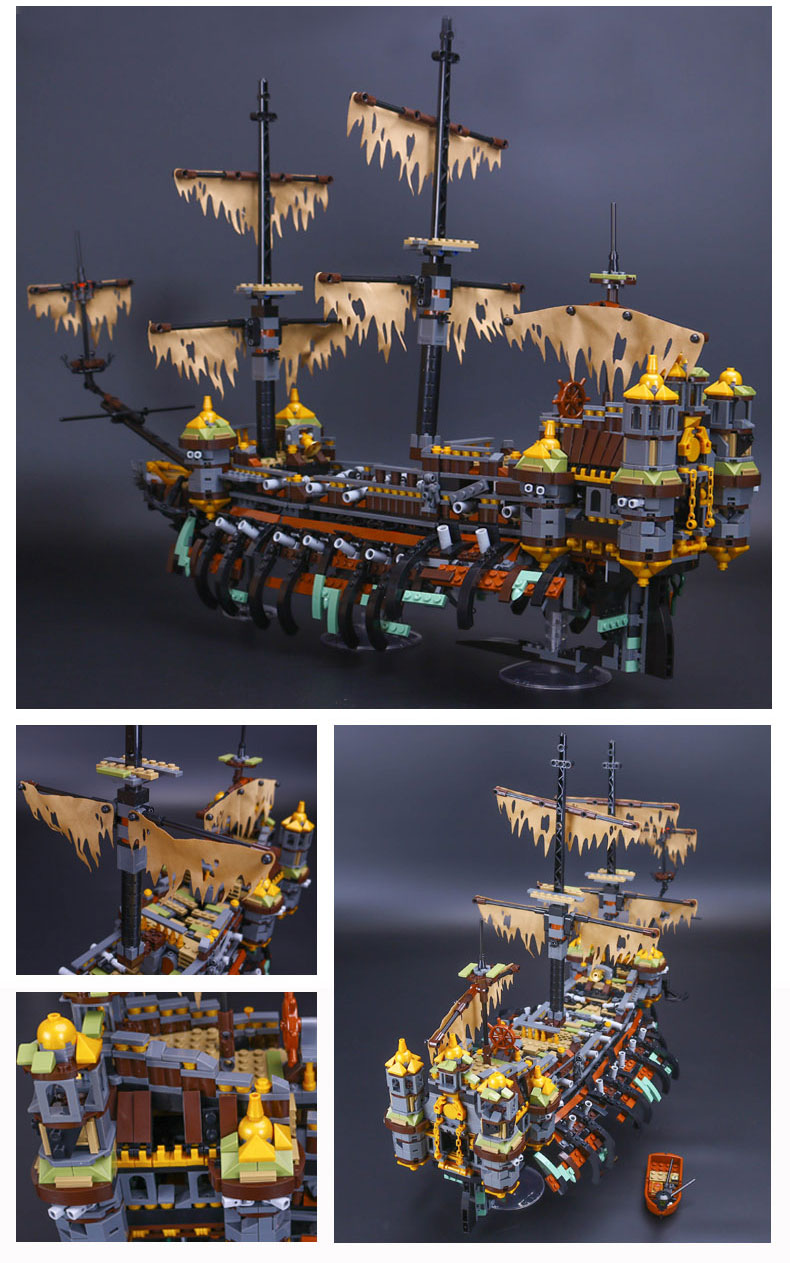 CUSTOM 16042 Building Blocks Toys Pirates of the Caribbean Silent Mary Building Brick Sets