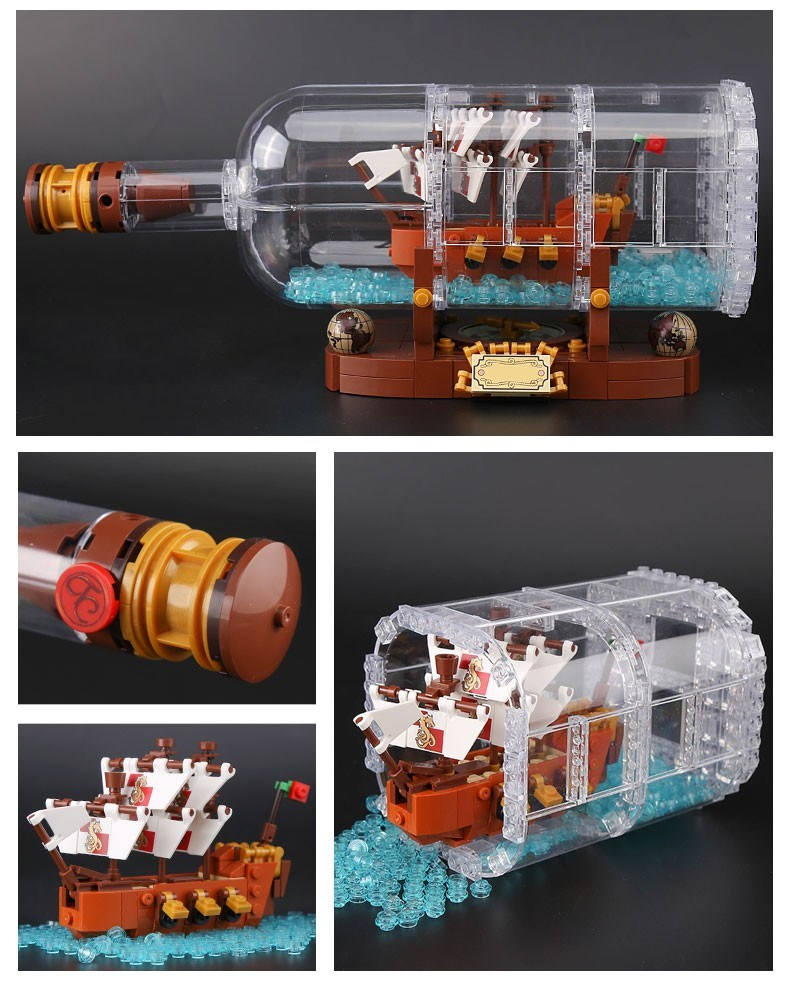 LEPIN 16051 Building Blocks Toys Ideas Ship in a Bottle Building Brick Sets