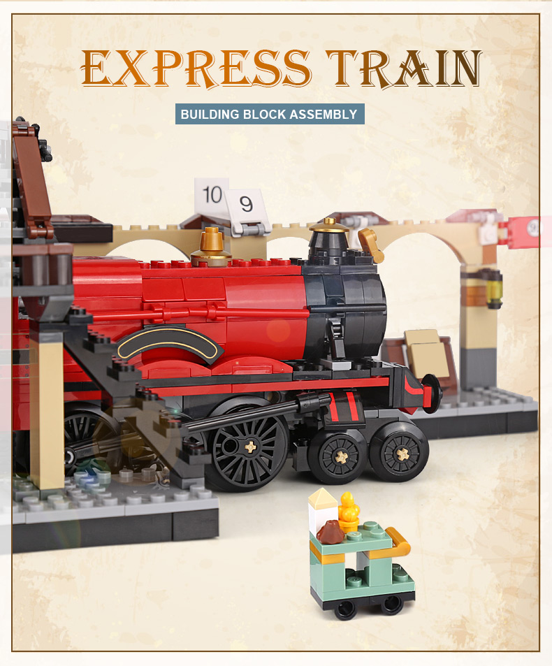 CUSTOM 16055 Harry Potter Hogwarts Express Building Bricks Set