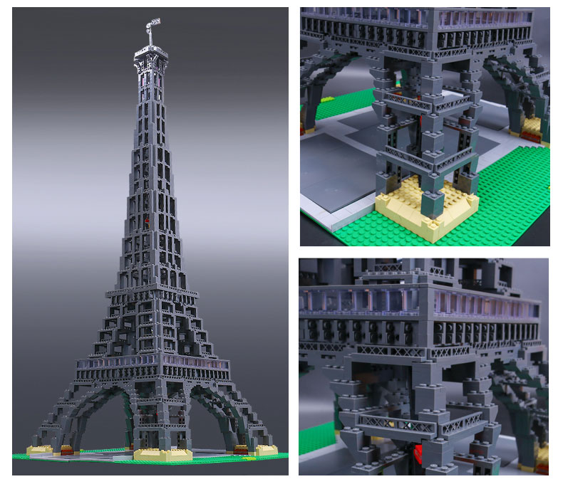 LEPIN 17002 Building Blocks Eiffel Tower 1:300 Building Brick Sets