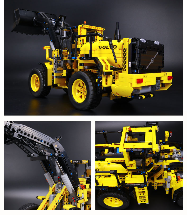 CUSTOM 20006 Building Blocks Technic Volvo L350F Wheel Loader Building Brick Sets
