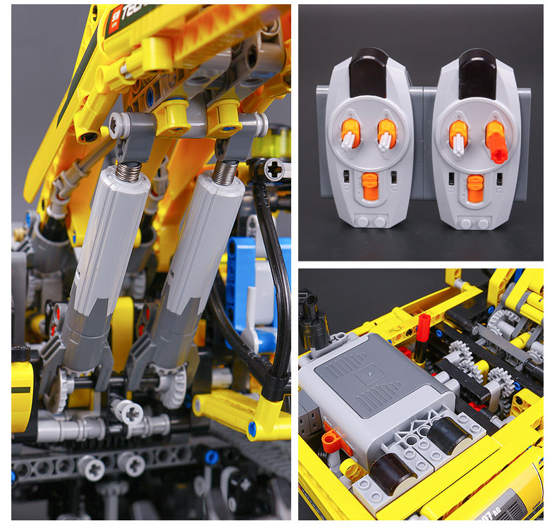 CUSTOM 20007 Building Blocks Technic Motorized Excavator Building Brick Sets