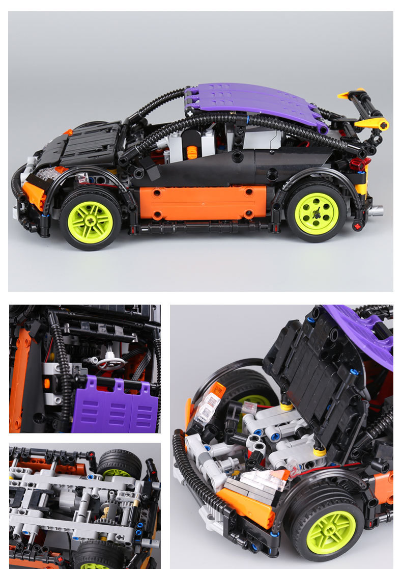 CUSTOM 20053 Building Blocks Toys MOC Hatchback Type R Building Brick Sets
