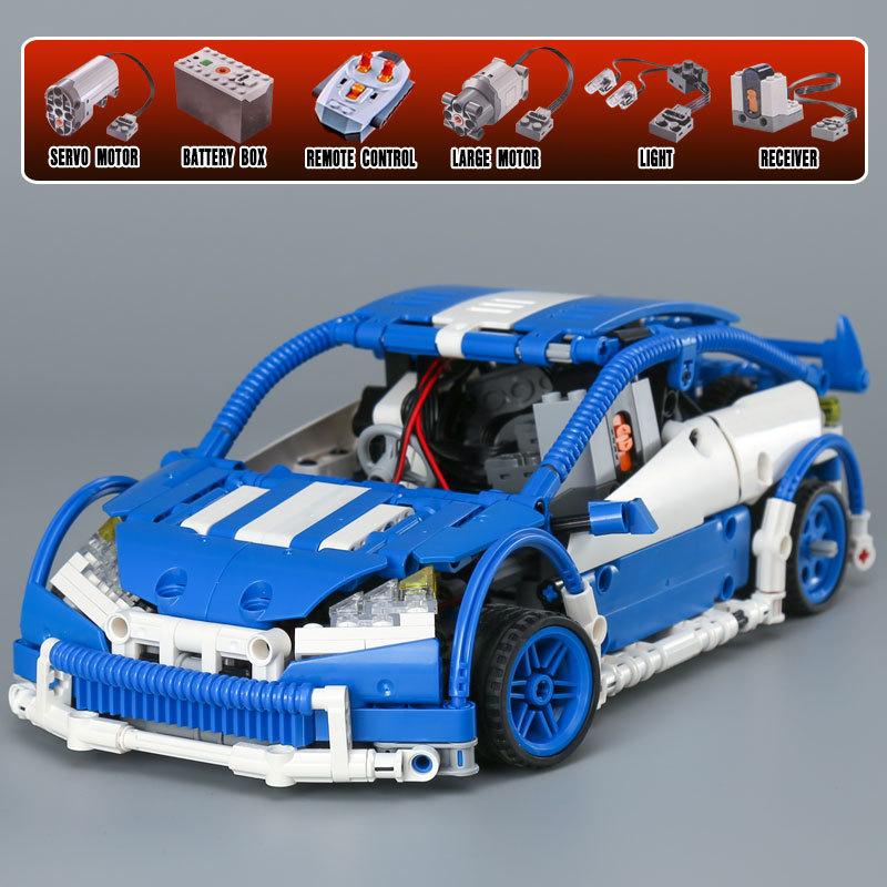 CUSTOM 20053 Building Blocks Toys MOC Hatchback Type R Building Brick Sets