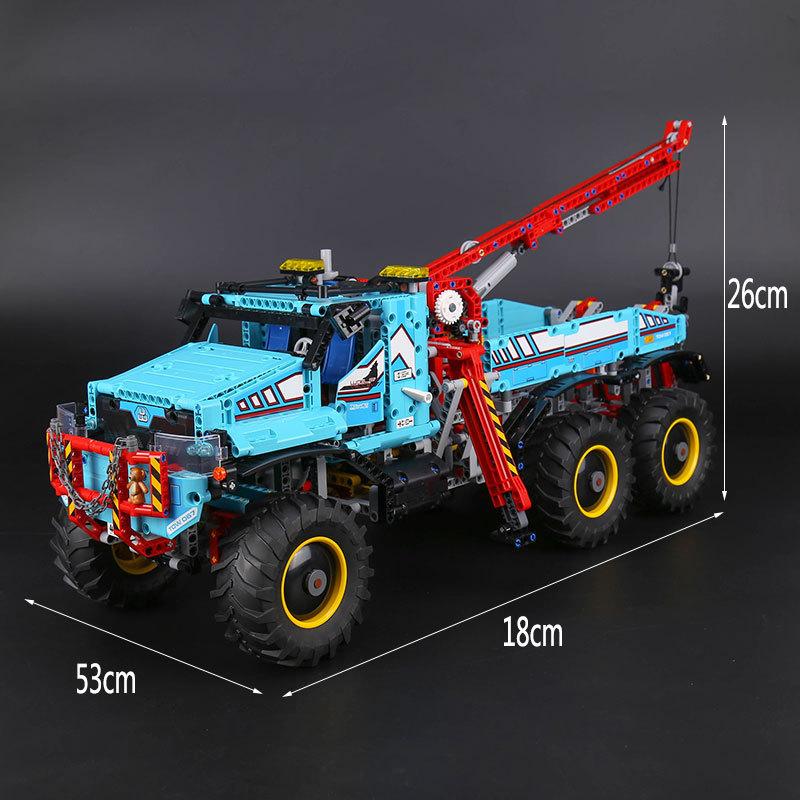 CUSTOM 20056 Building Blocks Toys Technic 6x6 All Terrain Tow Truck Building Brick Sets