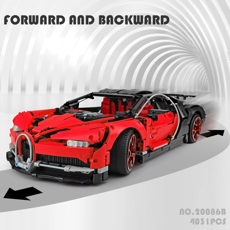 CUSTOM 20086B Bugatti Chiron Building Bricks Set