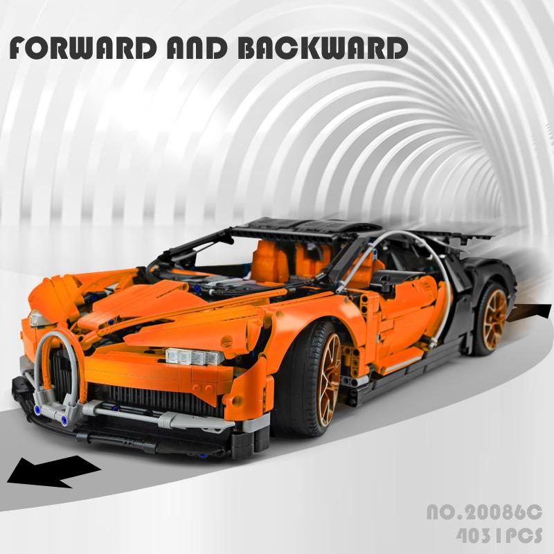 LEPIN 20086C Orange Bugatti Chiron Building Bricks Set