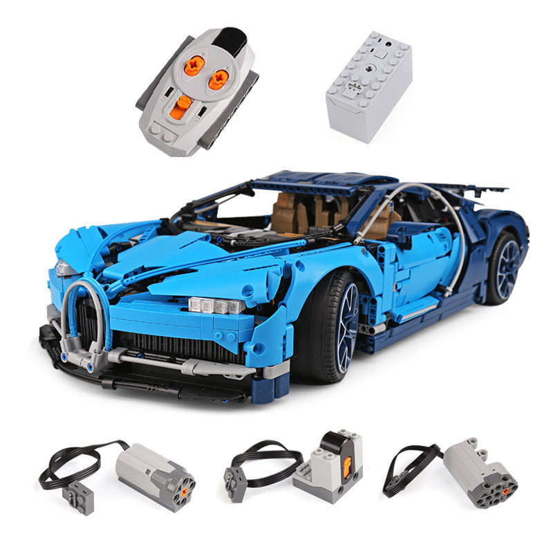 LEPIN 20086D Bugatti Chiron With Power Function Building Bricks Set