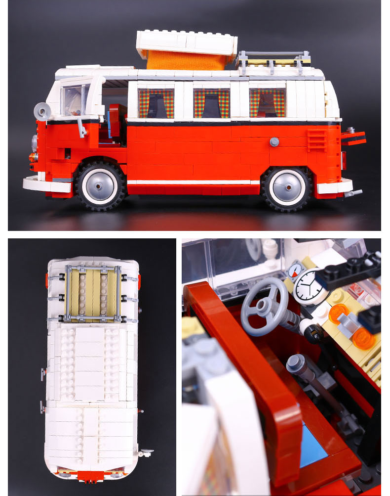 CUSTOM 21001 Building Blocks Toys Volkswagen T1 Camper Van Building Brick Sets