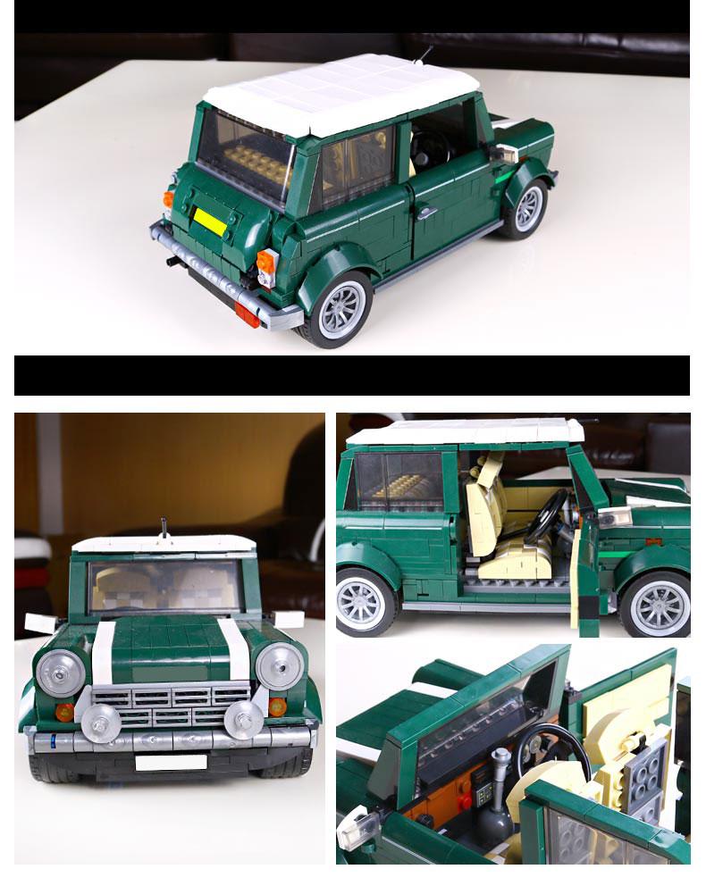 CUSTOM 21002 Building Blocks Vehicles MINI Cooper MK VII Building Brick Sets